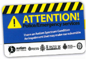 Autism-Attention-Card